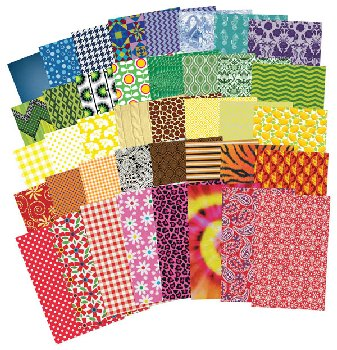 All Kinds of Fabric Paper (200 sheets)