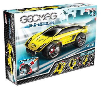 Geomag Wheels Stock Race Set - 20 pieces