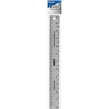 "Stainless Steel Non-skid Ruler 12""(30cm)"