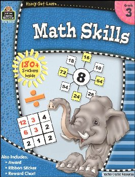 Math Skills Grade 3 (Ready, Set, Learn)