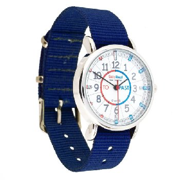 EasyRead Time Teacher Past & To Watch - Navy Strap