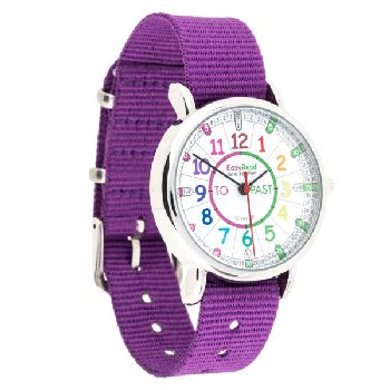 EasyRead Time Teacher Rainbow Past & To Watch - Purple Strap