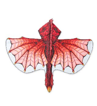 Hooded Dragon Wings - Inferno Red