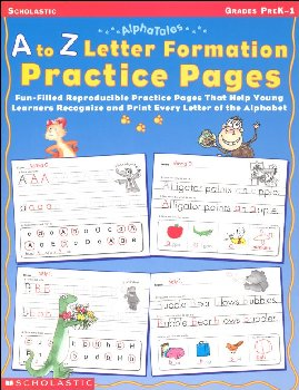 A to Z Letter Formation Practice Pages