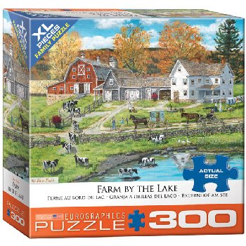 Farm by the Lake Puzzle - 300 pieces