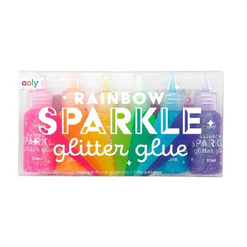 Rainbow Sparkle Glitter Glue (set of 6)