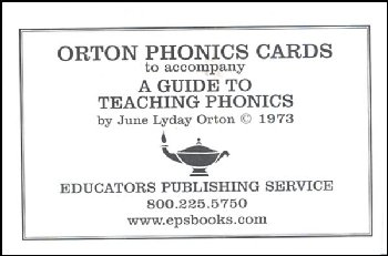 Orton Phonics Cards to Accompany A Guide to Teaching Phonics