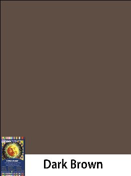 "Construction Paper Fade-Resistant 9"" x 12"" Dark Brown"