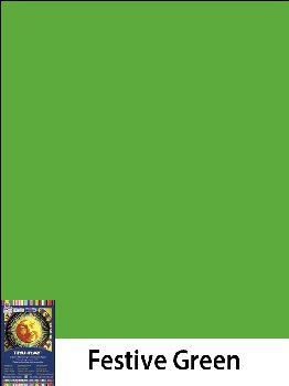"Construction Paper Fade-Resistant 9"" x 12"" Festive Green"