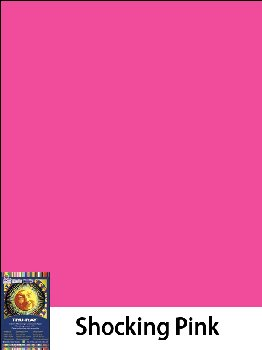 "Construction Paper Fade-Resistant 9"" x 12"" Shocking Pink"