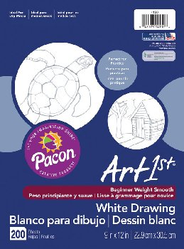 "Drawing Paper - 50#  9"" x 12"" (200 Sheets, White)"