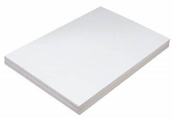"Tagboard White 150# basis 12"" x 18"" 100 sheet"