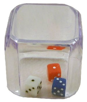 3 In a Cube (1 Each of Red, White and Blue 5mm Dice)