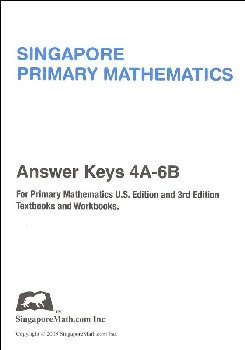 Primary Math U.S. Edition Answer Key Booklet Primary 4-6