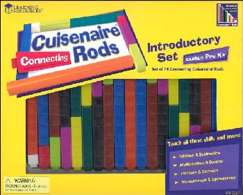 Connecting Cuisenaire Rods Introductory Set - 74 Plastic Rods