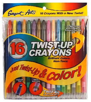 Twist-Up Crayons - Set of 16
