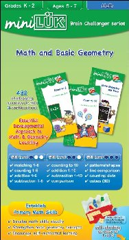 miniLUK Brain Olympics - Math and Basic Geometry (3-Workbook Set)
