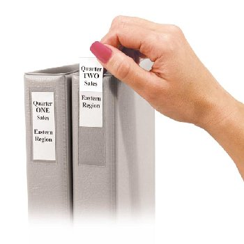 "Peel & Stick Binder Label Holders for 2"" Binders 12 Pack"