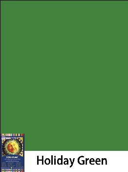 "Construction Paper Fade-Resistant 9"" x 12"" Holiday Green"