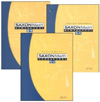 Saxon Math 5/4 3ED Homeschool KIT