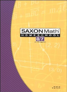 Math 8/7 Homeschool Student Edition (3rd Edition)