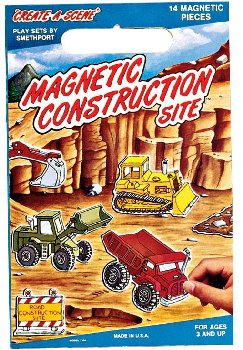Construction Site Magnetic Playset