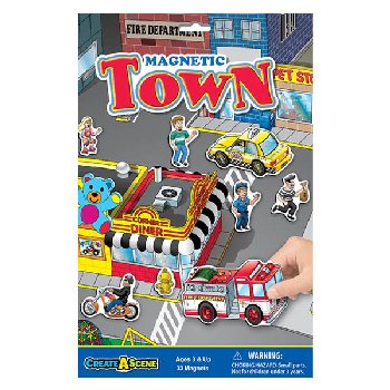 Town Magnetic Playset