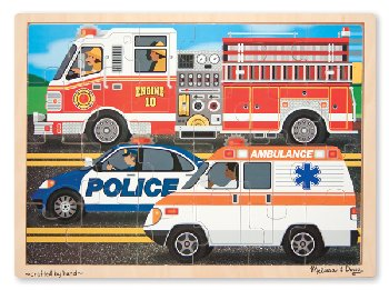Race to the Rescue! Wooden Jigsaw Puzzle (24 pieces)