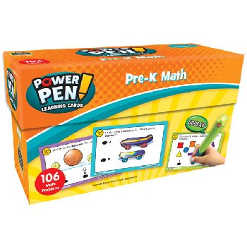 Power Pen Learning Cards: Math PreK