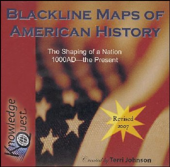 Blackline Maps of American History on CD-ROM
