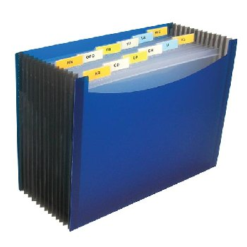 13-Pocket Expanding File Blue Transparent Design