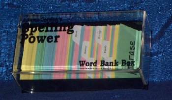 Spelling Power Word Bank Box with Blank Word Cards