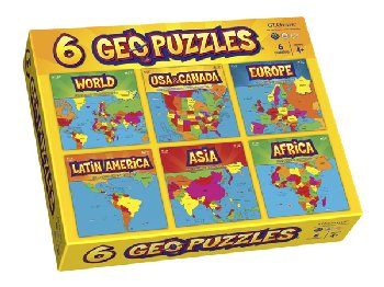 Geopuzzles Boxed Set (all six)