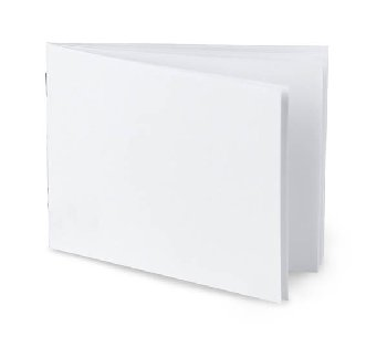 "White Blank Books (4.25"" x 5.5"") Horizontal - Pack of 10"