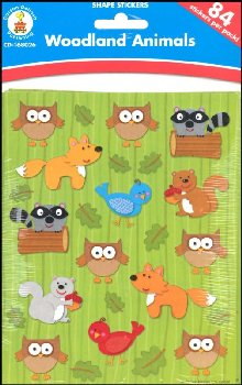 Shaped Stickers - Woodland Animals