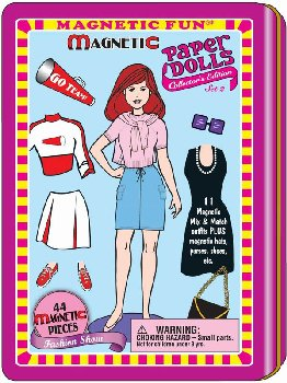Magnetic Paper Dolls Tin