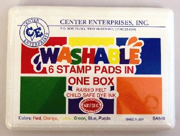 Washable 6 in 1 Dye Based Stamp Pad