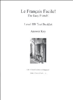 Easy French Level 2B Test Answer Key