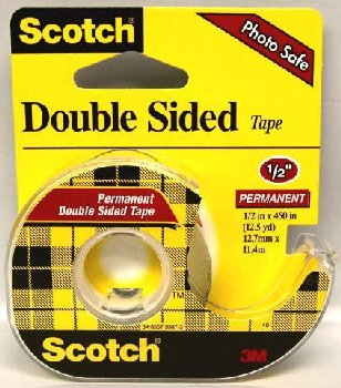 "Scotch Double Stick Tape 1/2"" x 450"""