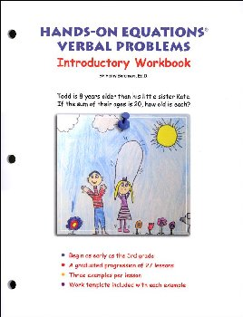 Hands-On Equations Verbal Problems Introductory Workbook