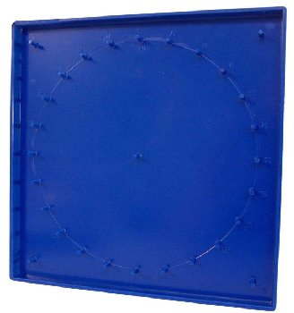 "Geoboard 8"" 7x7 pin double-sided w/ rbr bds"