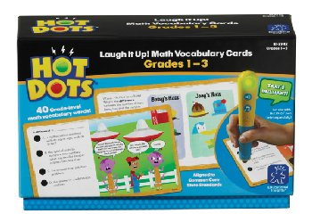 Hot Dots Laugh It Up! Math Vocabulary Cards Grades 1-3