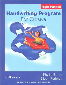 Handwriting Program for Cursive Right-Handed
