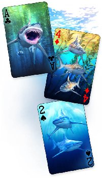 Sharks 3D Playing Cards