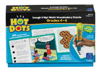 Hot Dots Laugh It Up! Math Vocabulary Cards Grades 4-6