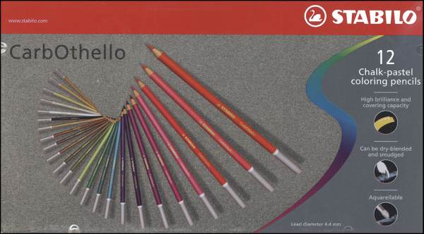 Pastel (Chalk) Stabilo Pencils - Set of 12