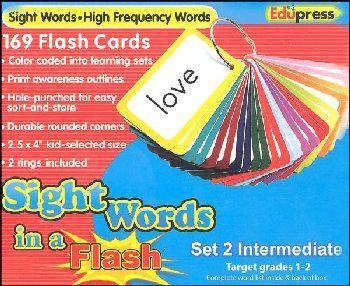 Sight Words in a Flash Flashcards Set 2