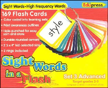 Sight Words in a Flash Flashcards Set 3