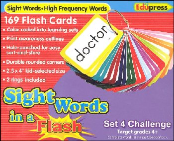 Sight Words in a Flash Flashcards Set 4