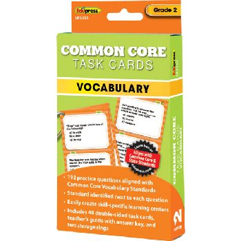 Common Core Vocabulary Task Cards Grade 2